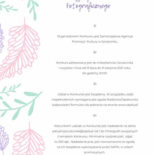 Konkurs Fotograficzny Pstryknij Szczecinek