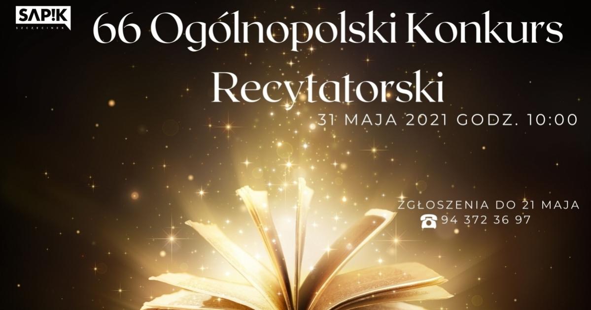 66 Ogólnopolski Konkurs Recytatorski!